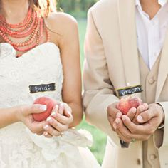 A light and romantic peach styled shoot