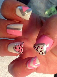 Leopard Print Nail Design Idea