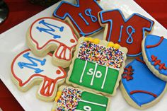 Whimsy Cookie Company provided Ole Miss football inspired cookies that decorated tables during the 2013 Signing Day Dinner