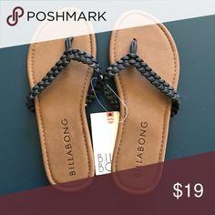 NWT billabong Sandals NWT billabong sandals, black braided straps Billabong Shoes Sandals