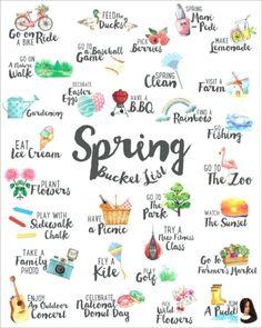 Kostenlose Spring Bucket List FREE Spring Bucket List Kostenlose Spring Source by Noeliaisabella ideas spring