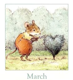 March - luv it Hello March, Woodland Creatures, Months In A Year, Book Illustration, Watercolor Paintings, Watercolours, Cute Art, Illustrators, Folk