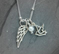 Inspirational Yoga Jewelry- Meaningful Jewelry Gifts-Mothers Day Thanks For Giving Me My Wings