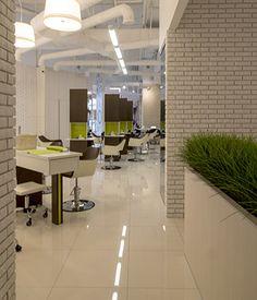 """Салон красоты """"NUVO"""", ТЦ """"Афимолл"""". Дизайн - aaba architects. http://aaba.ru/project_586/"""