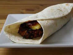Spicy Vegan Beanburger Wrap