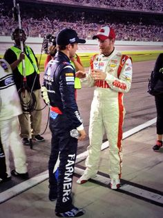 Jr and Kahne at end of first duel.