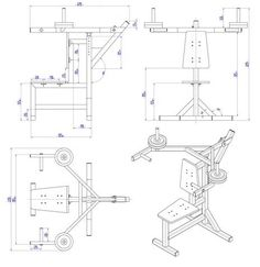Shoulder press bench plan - Assembly drawing