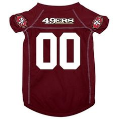 San Francisco 49ers Deluxe Dog Jersey - Medium  15% Discount - Use code DOGGIE at Checkout   http://www.gingersdoggieheaven.com #SanFrancisco49ers 15% Discount - Use code DOGGIE at Checkout
