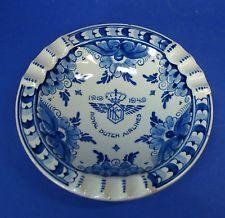 Keramik Schale - Delft / Delfter Porzellan - KLM Royal Dutch Airlines 1919-1949