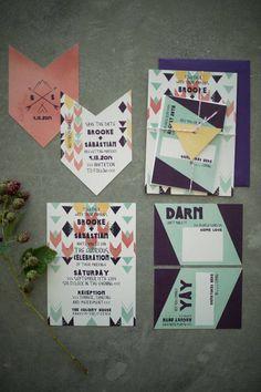 Bohemian Romantic Indian Summer Personalized Wedding #customweddinginvitations #ampersandink