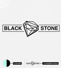 The Black Stone, Handmade Jewelry Logo. €50.00, via Etsy.