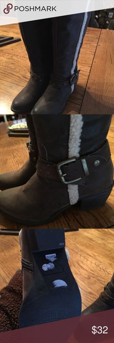 Cute Nicole Brown Boots 5.5 M Pre Owned Cute Nicole Boots only worn a couple of times 5.5M Shoes Winter & Rain Boots