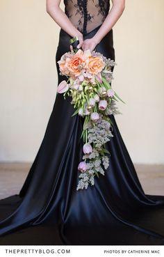 Pastel cascading bouquet