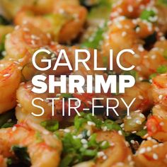 Don't even think about ordering takeout tonight. Just click the link to get all the ingredients for this incredible stir-fry! Don't even think about ordering takeout tonight. Just click the link to get all the ingredients for this incredible stir-fry! Shrimp Recipes, Fish Recipes, Asian Recipes, Healthy Recipes, Stir Fry Recipes, Cooking Recipes, Shrimp Stir Fry Easy, Homemade Stir Fry Sauce, Garlic Shrimp