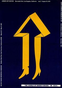 Japanese Poster: In the U.S.A.: Arrow. Shigeo Fukuda. 1971