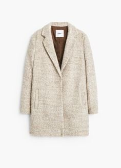Abrigo bouclé lana