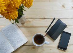 Productive morning #work #worklife #motivation #books #morning #desk #greentea