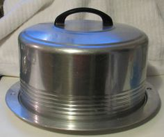 Vintage aluminum cake carrier: My grandmother had one of these; my sister has it now. It still looks great1