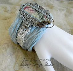 Fabric Cuff Bracelet -Seek Joy. $20.00, via Etsy.