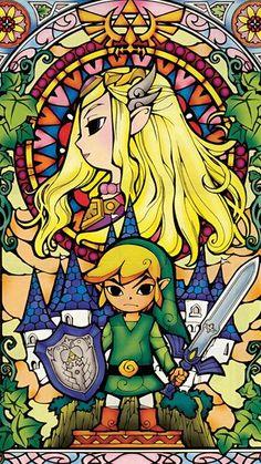 Zelda And Link iPhone 5C / 5S wallpaper