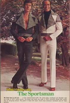 I could pull this off! Plastic clothing was so HOT! What I would give for some double knit poly right now. NOT!