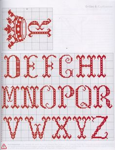 abecedario classico ponto cruz esquema - Pesquisa Google