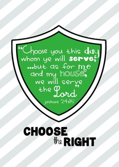 My Craft Journal: 2012 Primary Theme - Choose the Right