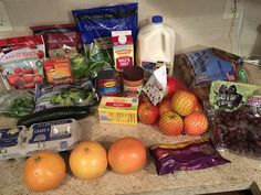 Gretchen's $42 Grocery Shopping Trip and Weekly Menu Plan