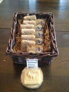 Li'l Sis Goat Milk Soap display for markets and craft fairs