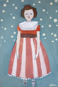 Elodie by Amanda Blake (contemporary), American - Her paintings use symbolism and the imagery of superstitions to explore the idea of fate and the search for meaning in the the world around us (amandablake)