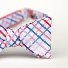 grey skies plaid freestyle bow tie by xoelle on Etsy, $36.00