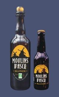 Cerveja Moulins D'Asq Blonde, estilo Biere de Garde, produzida por Moulins d'Ascq, França. 6.2% ABV de álcool.