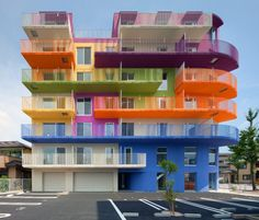 18 Cool Color Blocked Buildings via Brit + Co
