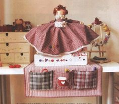 Sewing Machine Cover Doll
