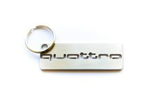 QUATTRO stainless steel hand polished keychain by MetalStyleLT on Etsy