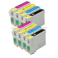 8 Compatible EPSON 128 T1285XL Ink Cartridge for Stylus SX125 SX130 SX235W S22 SX420W SX425W SX435W Printer