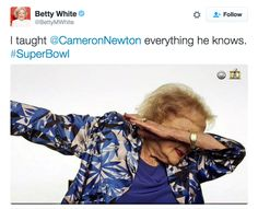 Yaaaasssss Betty. | Betty White Just Won The Super Bowl With Her Dab