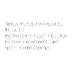 A little bit stronger lyrics ❤ liked on Polyvore