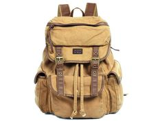 #Canvas Rucksack #Backpack for School & Outdoor