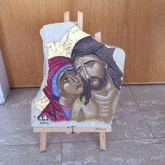 Virgin Mary and Jesus Christ by Vangelosartandcraft on Etsy