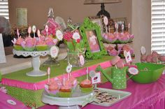 Pink & green Ladybugs Birthday Party Ideas   Photo 6 of 35   Catch My Party