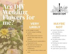 A quick checklist to help you figure out if buying local flowers from the farm is right for you. Diy Wedding Flowers, Seasonal Flowers, Retirement Parties, Organic Vegetables, Cut Flowers, Have Time, Unique Weddings, Simple Style, Flower Arrangements