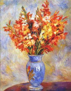 Gladioli - Pierre-Auguste Renoir (1884)