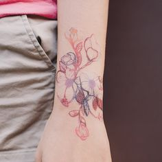 Floral Flourish Tattly - temporary or not this is very pretty