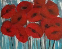 Poppy pops..acrylic