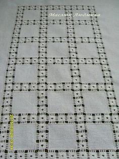 Drawn Thread, Thread Work, Creative Embroidery, Hand Embroidery Designs, Hardanger Embroidery, Embroidery Stitches, Crochet Bedspread, Bargello, Embroidery Techniques