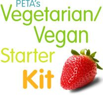 PETA's Vegetarian & Vegan Starter Kit...seems interesting to try for maybe a week or a month!