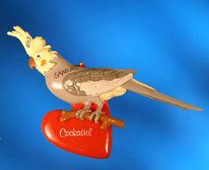 Personalized Bird Christmas Ornament - Cockatiel image