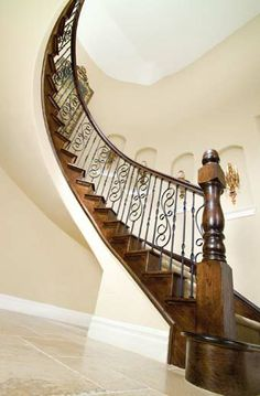 1000 Images About Wood Stair With Ironwork On Pinterest