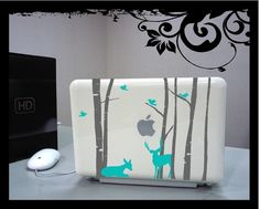 Mini Birch Trees Set  Vinyl Decal by BubbaAndDoodle on Etsy, $10.00